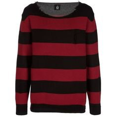 Pinterest - Dead Meat Striped sweater ❤ liked on Polyvore featuring tops, sweaters, shirts, jumpers, long sleeves, long-sleeve shirt, red str   My polyvore