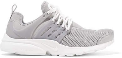 Air Presto Se Stretch-knit, Mesh And Rubber Sneakers - Light gray