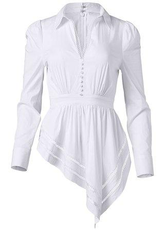 Asymmetrical Blouse in White | VENUS