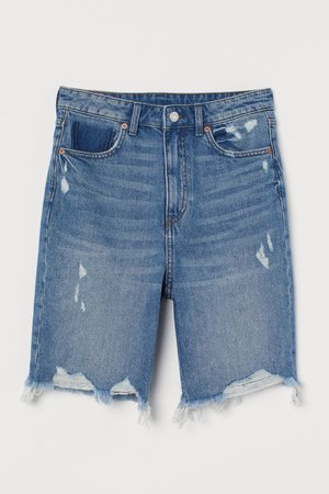Denim Shorts High Waist - Denim blue - Ladies | H&M US