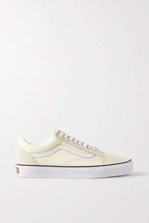 Old Skool Canvas, Suede And Leather Sneakers - White