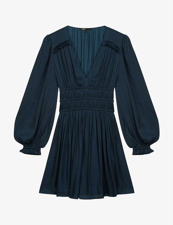 MAJE - Rianne satin mini dress | Selfridges.com