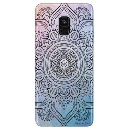 Capa Personalizada Transparente para Samsung Galaxy A8 2018 Plus - Mandala - TP263 nas Lojas Americanas.com