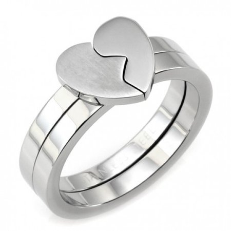 Best Friends Ring Stainless Steel Two Piece Ring Set