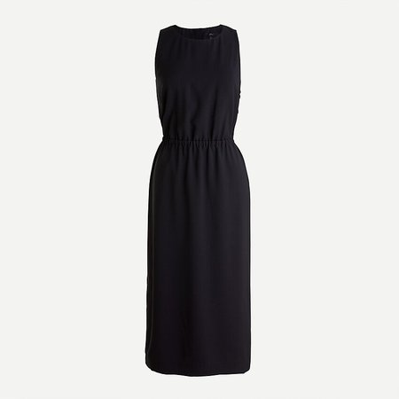 J.Crew: Button-back Midi Dress black