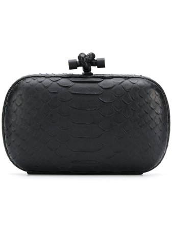 Black Bottega Veneta Pre-Owned Knot Clutch   Farfetch.com