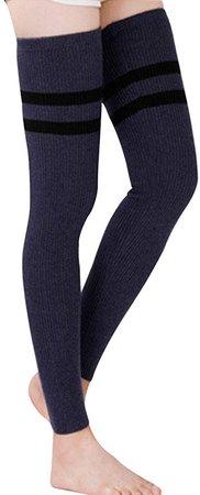 Amazon.com: LerBen Womens Warm Cashmere Leg Warmers Long Soft Knee High Legging Socks (s-gray): Clothing
