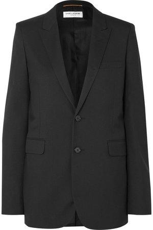 SAINT LAURENT   Wool-gabardine blazer   NET-A-PORTER.COM