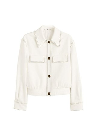 MANGO Contrast seam jacket