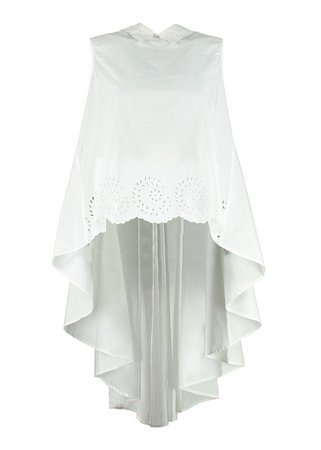 Mes Demoiselles Clea Embroidered Collar Cotton Top