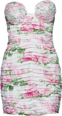 Magda Butrym Strapless Silk Dress