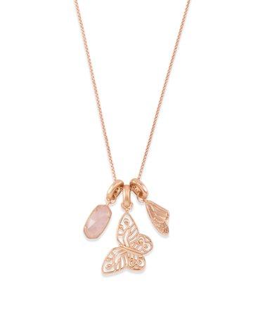 Metastatic Breast Cancer Necklace Charm Set in Rose Gold | Kendra Scott