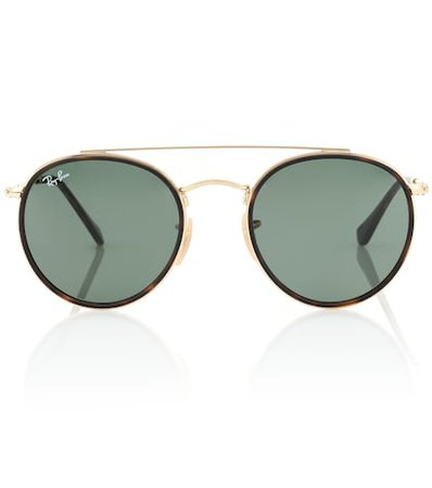 Round Double Bridge sunglasses