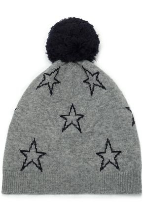 Pompom-embellished intarsia wool and cashmere-blend beanie | CHINTI AND PARKER | Sale up to 70% off | THE OUTNET