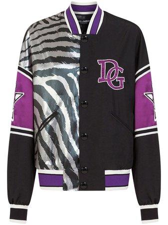 Dolce & Gabbana Zebra Jungle Sport Bomber Jacket - Farfetch