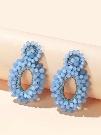 Beaded Round Drop Earrings | SHEIN USA