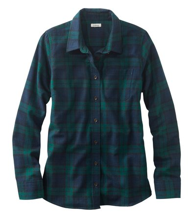 LL Bean Blackwatch Plain Flannel Shirt