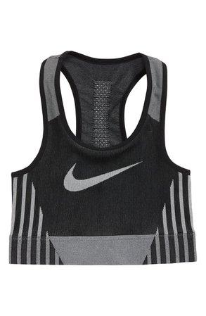 Nike Dry FE/NOM Seamless Sports Bra (Big Girls) | Nordstrom