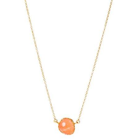 Delicate Necklace in Orange Quartz | Christina Greene | Wolf & Badger