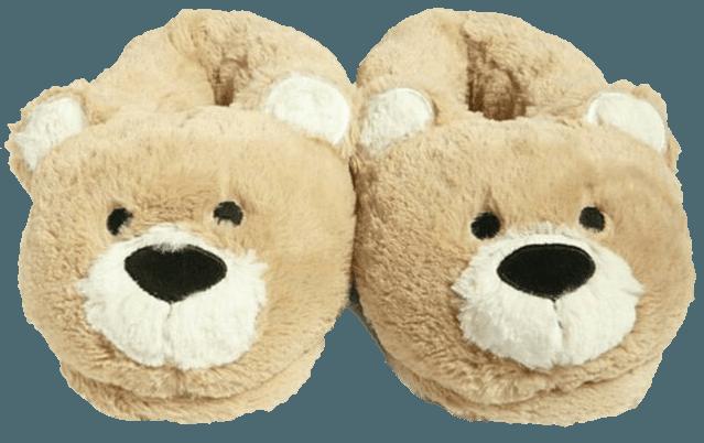 bear plush slippers png