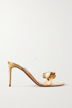 Just Nodo 85 Mirrored-leather And Pvc Sandals - Gold