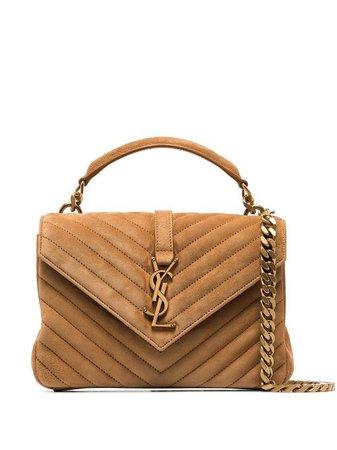 Shop brown Saint Laurent College shoulder bag with Express Delivery - Farfetch