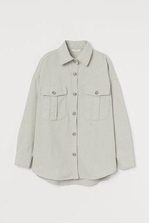 Cotton Flannel Shirt - Green