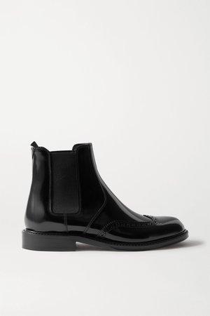 Black Ceril glossed-leather Chelsea boots | SAINT LAURENT | NET-A-PORTER
