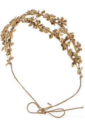 Jennifer Behr | Adele gold-tone headband | NET-A-PORTER.COM