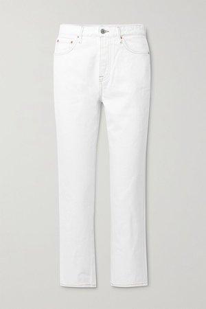 White Helena high-rise straight-leg jeans | GRLFRND | NET-A-PORTER
