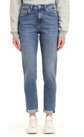 Cindy High Waist Raw Hem Jeans