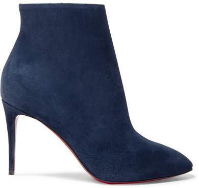 Eloise 85 Suede Ankle Boots - Navy