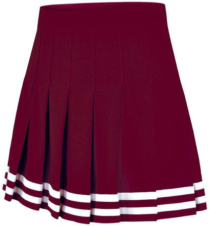 maroon cheer skirt