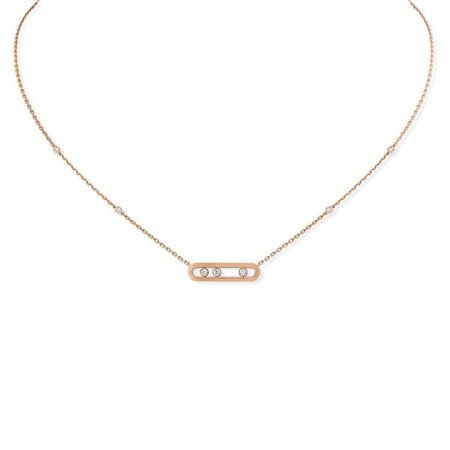 Messika Baby Move Necklace - 18k Pink Gold with Diamonds | Garmentory