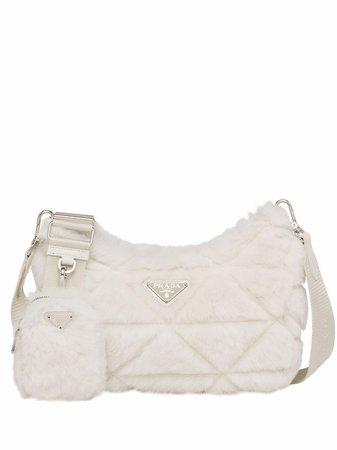 Prada shearling shoulder bag - FARFETCH