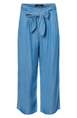 VERO MODA Laura High Waist Belted Ankle Pants | Nordstrom