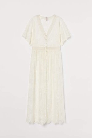 Lace Dress/cardigan - White