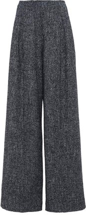 Agnona Tweed Wide-Leg Pants