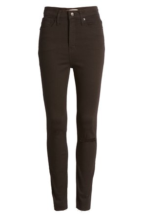 Madewell 11-Inch High-Rise Skinny Jeans (Black Frost) (Regular & Plus Size) | Nordstrom