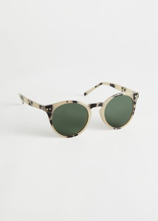 Rounded Tortoise Sunglasses - Tortoise - Sunglasses - & Other Stories