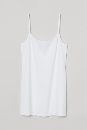 Cotton Jersey Tank Top - White
