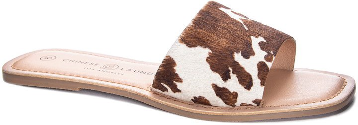 Regina Genuine Calf Hair Slide Sandal