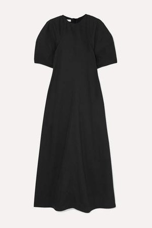 Twill Maxi Dress - Black