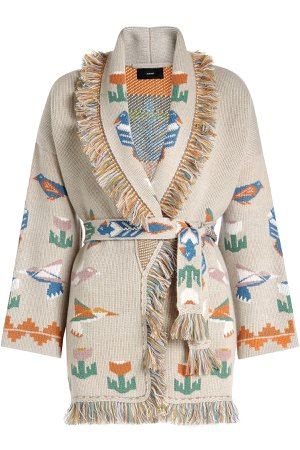 Tree of Life Cashmere Cardigan with Belt Gr. M