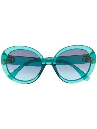 Gucci Eyewear солнцезащитные очки в круглой оправе с логотипом GG - купить в интернет магазине в Москве   Цены, Фото.