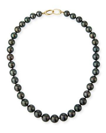 "Assael 17.5""L Tahitian Natural Color Cultured Pearl Necklace"