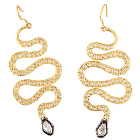 11k Gold Snake Earrings