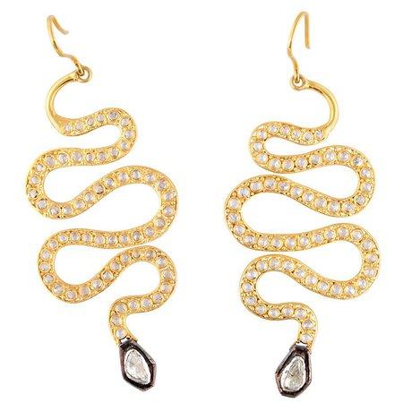 11k Gold Snake Earrings