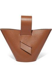 STAUD | Bissett leather and tortoiseshell acrylic bucket bag | NET-A-PORTER.COM