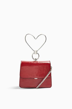 LILY Red Mini Grab Bag With Heart | Topshop red